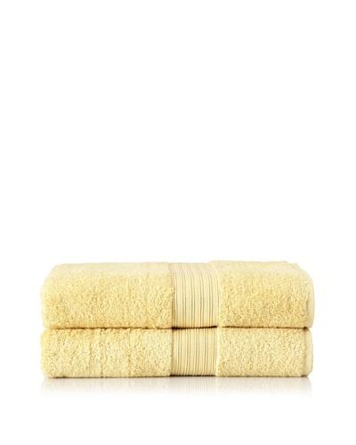 "Chortex Set of 2 Indulgence Bath Sheets, Mustard, 35"" x 60"""
