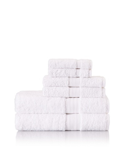 Chortex 6-Piece Indulgence Bath Towel Set, White