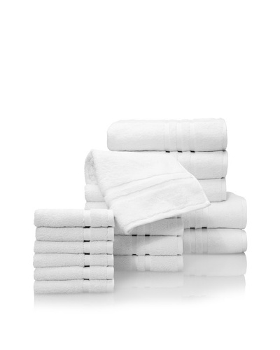 Chortex Irvington 17-Piece Towel Set, White