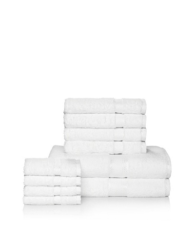 Chortex Rhapsody Royale 10-Piece Bath Towel Set, White
