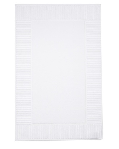 Chortex Oxford Bath Mat, White, 22 x 36