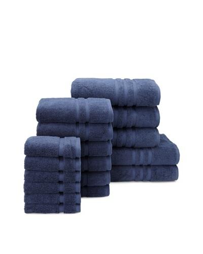 Chortex Irvington 17-Piece Towel Set, Navy