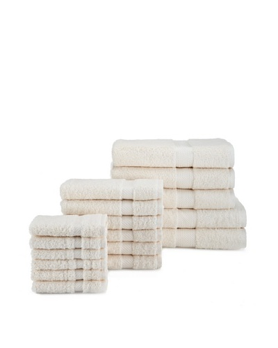Chortex Rhapsody Royale 17-Piece Towel Set, Oyster