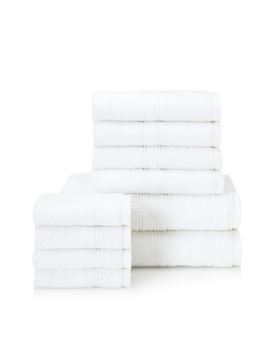 Chortex 10-Piece Imperial Bath Towel Set, White