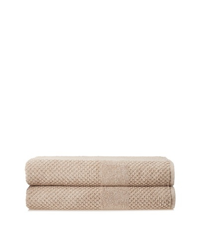 Chortex Set of 2 Honeycomb Bath Sheets, Flax