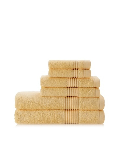Chortex Ultimate 6-Piece Towel Set, Yellow
