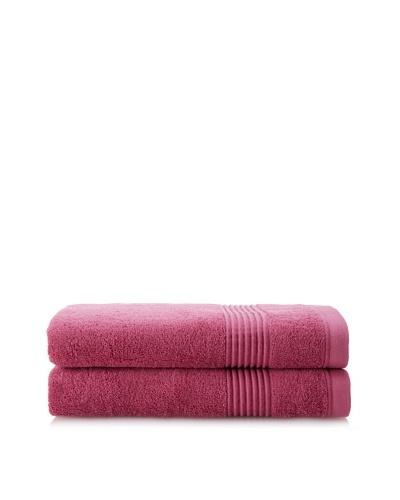 Chortex Ultimate Set of 2 Bath Sheets, Rose Wine