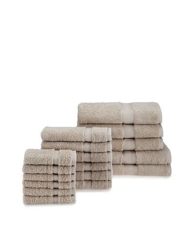 Chortex Rhapsody Royale 17-Piece Towel Set, Stone