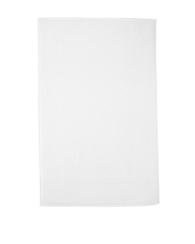 Chortex Honeycomb Bath Mat, White, 22 x 36