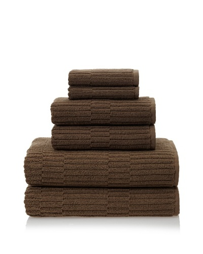 Chortex Oxford 6-Piece Bath Towel Set, KhakiAs You See