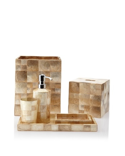 Pearl Dragon 3-Tone Shimmering Squares 6-Piece Bathroom Set