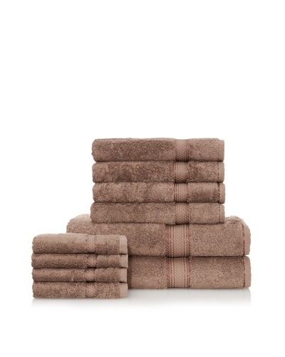 Chortex Rhapsody Royale 10-Piece Bath Towel Set, Coffee