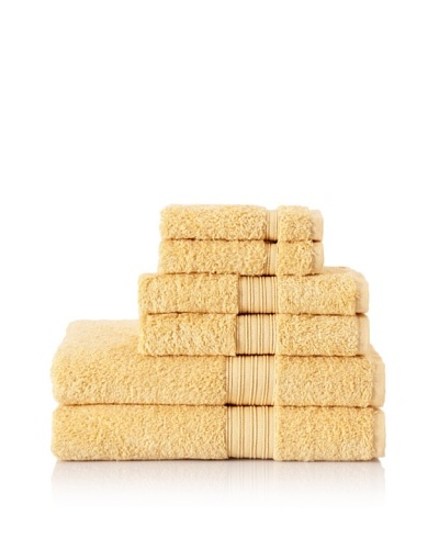 Chortex 6-Piece Indulgence Bath Towel Set, Mustard