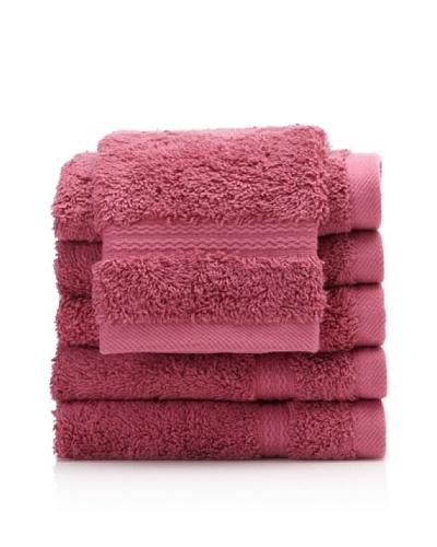 Royal Ascot by Chortex Set of 6 Wash Cloths, Magenta
