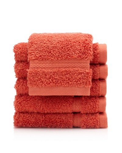 Royal Ascot by Chortex Set of 6 Wash Cloths, Paprika