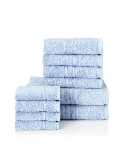 Chortex 10-Piece Imperial Bath Towel Set, Bluebell