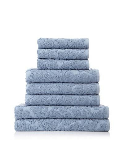 Chortex Baroque 8-Piece Towel Set [Dusky Blue]