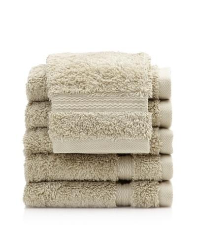 Royal Ascot by Chortex Set of 6 Wash Cloths, Sage