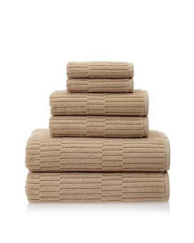 Chortex Oxford 6-Piece Bath Towel Set, Linen