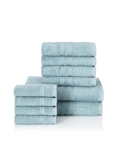 Chortex 10-Piece Imperial Bath Towel Set, Soft Aqua