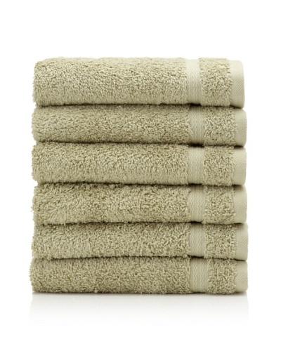 Royal Ascot by Chortex Set of 6 Hand Towels, Sage