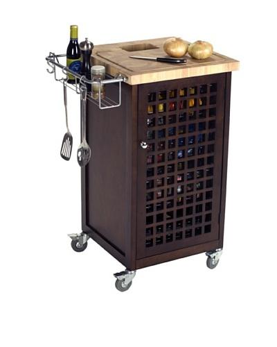 Chris & Chris Storage & Food Prep Station with Doors [Espresso]