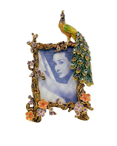 "Ciel Peacock 2"" x 3.5"" Picture Frame"