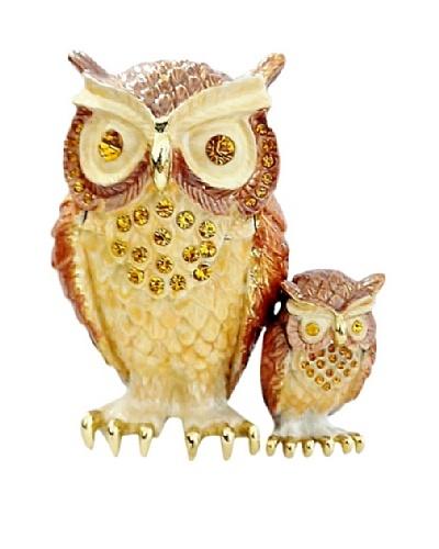 Ciel Owl & Baby Trinket Box