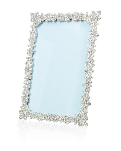 Ciel Austrian Crystal 4 x 6 Picture Frame, Pewter