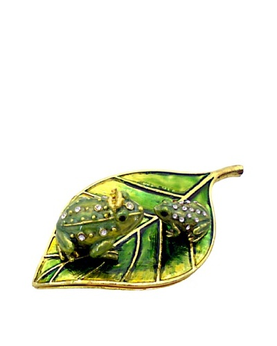Ciel Frogs On Leaves Trinket Box