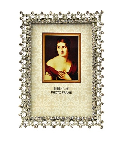 Ciel Collectables Hand-Painted 4 x 6 Frame with Hand-Set Crystals