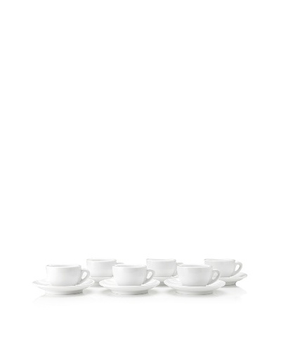 "Cilio Premium Set of 6 ""Roma"" Espresso Cups, White"