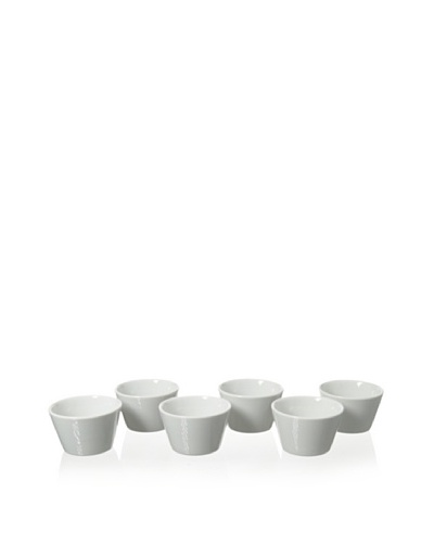 Cilio Premium Set of 6 Soufflé Bowls, White