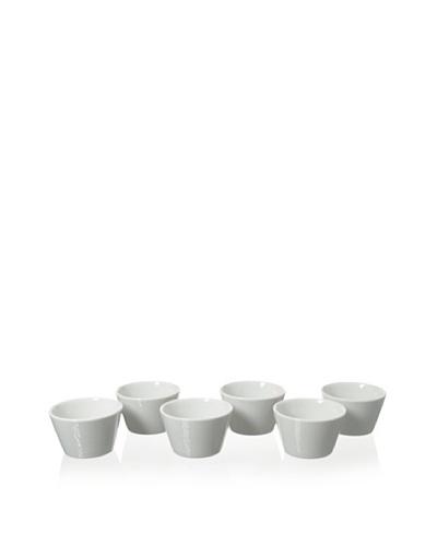 Cilio Premium Set of 6 Soufflé Bowls, White