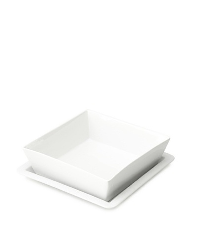 Cilio Premium Square Serving Bowl & Plate Set