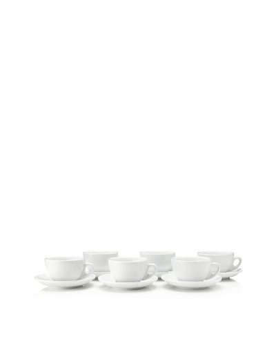 Cilio Premium Set of 6 Roma Cappuccino Cups, White