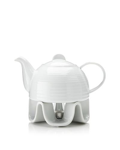 Cilio Premium 37-Oz. Porcelain Teapot With Warmer