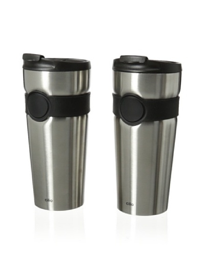 Cilio Premium Set of 2 Travel Mugs