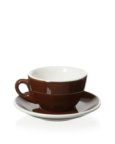 """Cilio Premium """"Roma"""" 3.25-Oz. Cappuccino Cup & Saucer, Brown"""