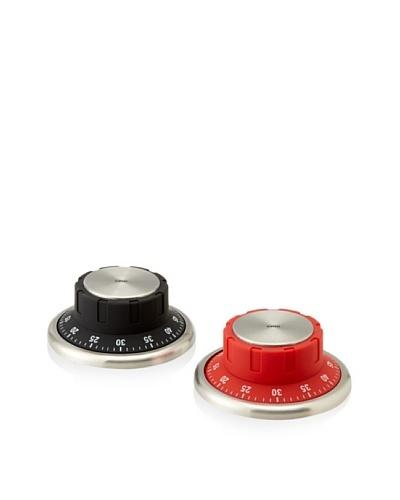 Cilio Premium Set of 2 Kitchen Timers, Black & Red