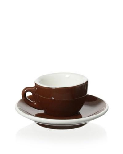 Cilio Premium Roma 1.7-Oz. Espresso Cup & Saucer, Brown