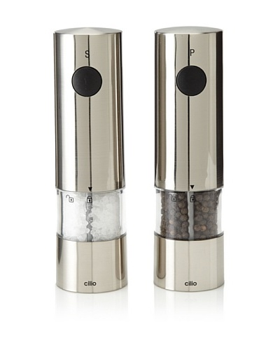 Cilio Premium Monza Electric Salt & Pepper Set