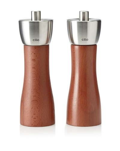 Cilio Premium Milano Salt & Pepper Set, Cherry