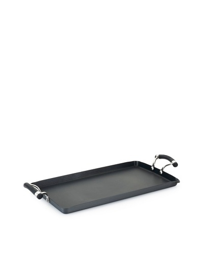 Circulon Contempo Hard-Anodized Non-Stick Double Burner Griddle, Black, 10 x 18