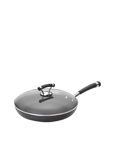 Circulon Contempo Hard-Anodized Non-Stick Covered Skillet, Black, 12""