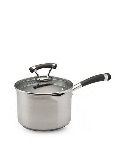 Circulon Contempo Stainless Steel 3-Qt. Covered Nonstick Straining Saucepan