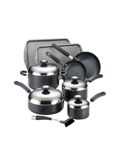 Circulon Total Hard Anodized Nonstick 13-Piece Cookware Set, Dark Grey