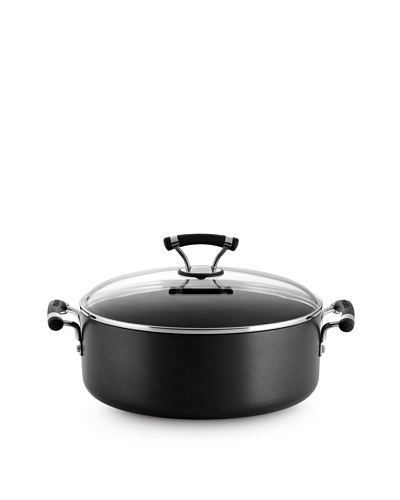 Circulon Contempo Hard-Anodized Non-Stick Covered Wide Stock Pot, Black, 7.5-Qt.