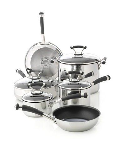 Circulon Contempo Stainless Steel Nonstick 10-Piece Cookware Set [Stainless Steel]