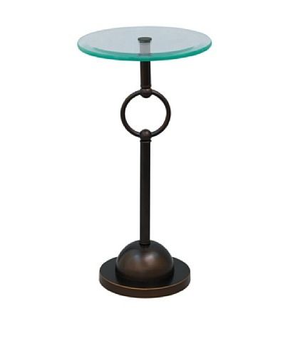 City Scape Logan Accent Table, Bronze